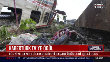 Türkiye Gazeteciler Cemiyeti'nden, Habertürk TV'de yayınlanan 'Hayatın İçinden' isimli haber programına başarı ödülü.