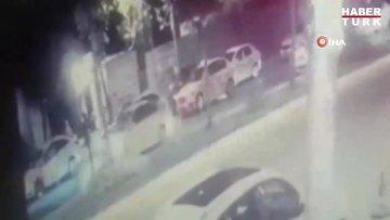 Taksiciler arasındaki silahlı kavga kamerada