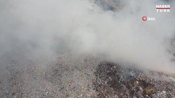 Çöplükte çıkan yangın sonrası şehri duman kapladı