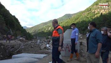 Ulaştırma ve Altyapı Bakanı Adil Karaismailoğlu, Giresun'un Dereli ilçesinde incelemelerde bulundu.