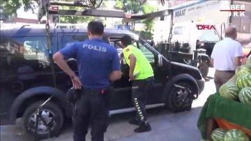 Silivri'de aracının çekilmesini istemeyen sürücü polise zor anlar yaşattı