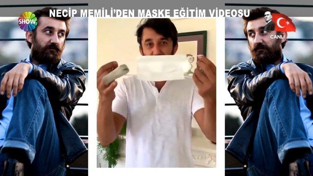 Necip Memili'den maske eğitim videosu
