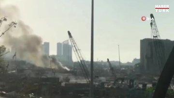 Beyrut Limanı'nda yangın