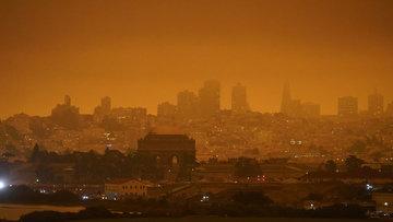 California'daki orman yangınları, San Francisco'da gökyüzünü turuncuya bürüdü