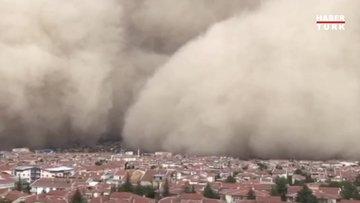 Başkentte gökyüzünü toz bulutu kapladı