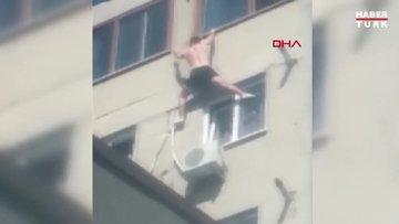 Pencereye tırmanırken düştü!