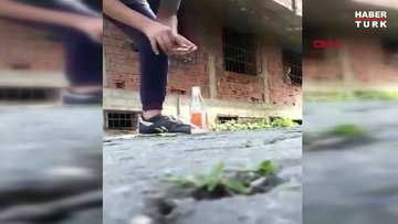 Cam şişede patlatılan torpil kör etti