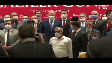 İçişleri Bakanı Soylu, gazi ve gazi yakınlarıyla bir araya geldi