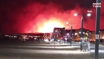Balıkesir'in Ayvalık ilçesinde orman yangınına müdahale sürüyor