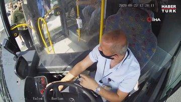 Belediye otobüsündeki maske kavgasının görüntüleri ortaya çıktı