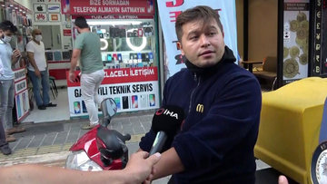 Maskesiz şahıstan polise tehdit