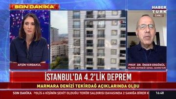 İstanbul'da 4.2 büyüklüğünde deprem oldu
