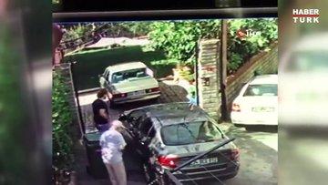 Beykoz'da dehşet anları kamerada...Kadına sopa ile saldırdı