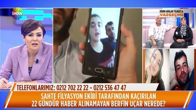 Berfin Uçar canlı yayında video mesaj gönderdi!