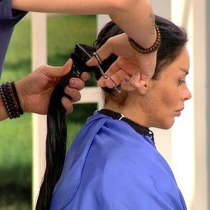 Taner, Pınar'ın saçını ''3 parmak'' bıraktı!