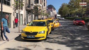 Taksim'de karantina ihlali yapan taksi şoförü sağlık ekiplerine teslim edildi