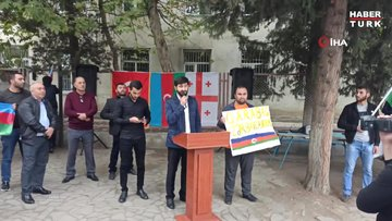 Gürcistan'da Azerbaycan'a destek gösterisi