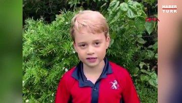 İngiltere kraliyet ailesinin en küçük üyesi Prens Louis'in sesi ilk defa duyuldu
