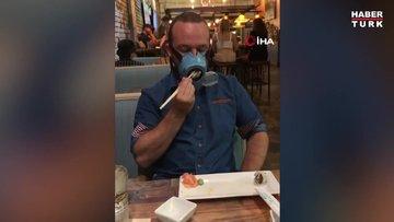 """Yemek yerken bile çıkarılmayan """"otomatik maske"""" üretildi"""
