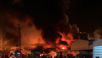 Konya'daki şeker fabrikasında yangın çıktı
