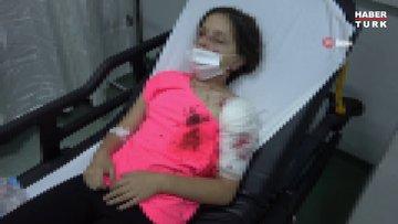 Pitbull cinsi köpeklerin saldırısına uğrayan 11 yaşındaki kız çocuğu ölümden döndü