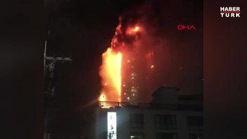 Güney Kore'de gökdelende büyük yangın: 40 yaralı