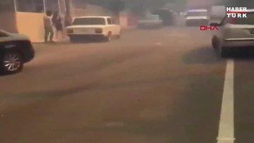 HATAY'DA ORMAN YANGININDA POLİSTEN EVLERİ BOŞALTIN, ARABALARI KALDIRIN ANONSU