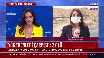Ankara'da 2 yük treni çarpıştı! 2 makinist öldü!