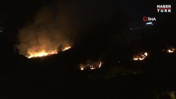 Trabzon'un Akyazı mahallesinde örtü yangın