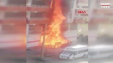 Siverek'te 5 katlı binayı alevler sardı, mahallede panik yaşandı