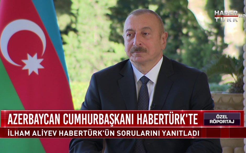 Özel Röportaj - 14 Ekim 2020 (Azerbaycan Cumhurbaşkanı İlham Aliyev Habertürk'te)