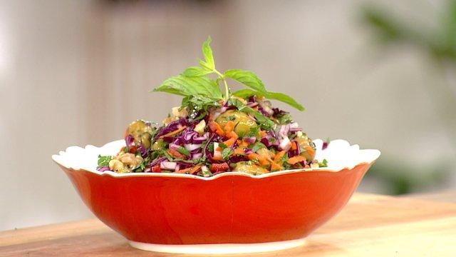 Izgara Yeşil Zeytin Salatası