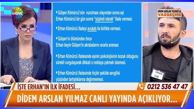 Erhan Kömürcü'nün ilk ifadeleri!
