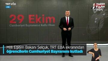 Milli Eğitim Bakanı Selçuk TRT EBA'dan öğrencilere seslendi