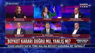 Suudi Arabistan'ın Türk malına boykot kararına ne yapmalı? | Açık ve Net - 27 Ekim 2020