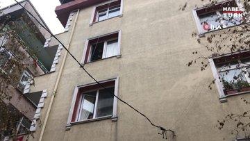 Avcılar'da bir binada deprem sonrası çatlak oluştu