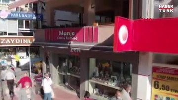 Deprem anı, vatandaşın drone kamerasına yansıdı! İşte deprem görüntüleri