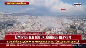 Son dakika deprem! İzmir'de 6,6 büyüklüğünde deprem!