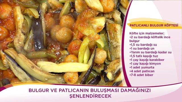 Patlıcanlı Bulgur Köftesi