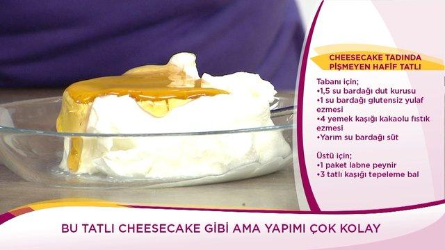 Cheesecake Tadında Pişmeyen Hafif Tatlı