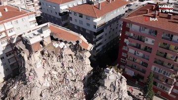 9 kişinin hayatını kaybettiği sitede kontrollü yıkım sürüyor