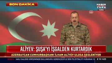 Aliyev: Şuşa işgalden kurtarıldı