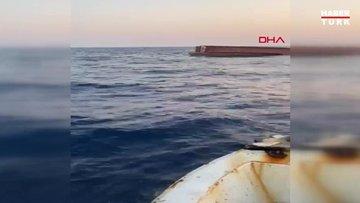 Karataş açıklarından balıkçı teknesi alabora oldu, balıkçılara ulaşılmaya çalışılıyor