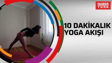 10 dakikalık yoga akışı