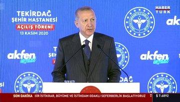 Cumhurbaşkanı Erdoğan Tekirdağ'dan ekonomi ve hukuk mesajları