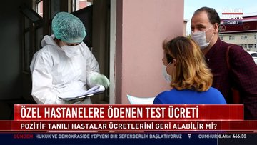 Özel hastanelere ödenen test ücreti