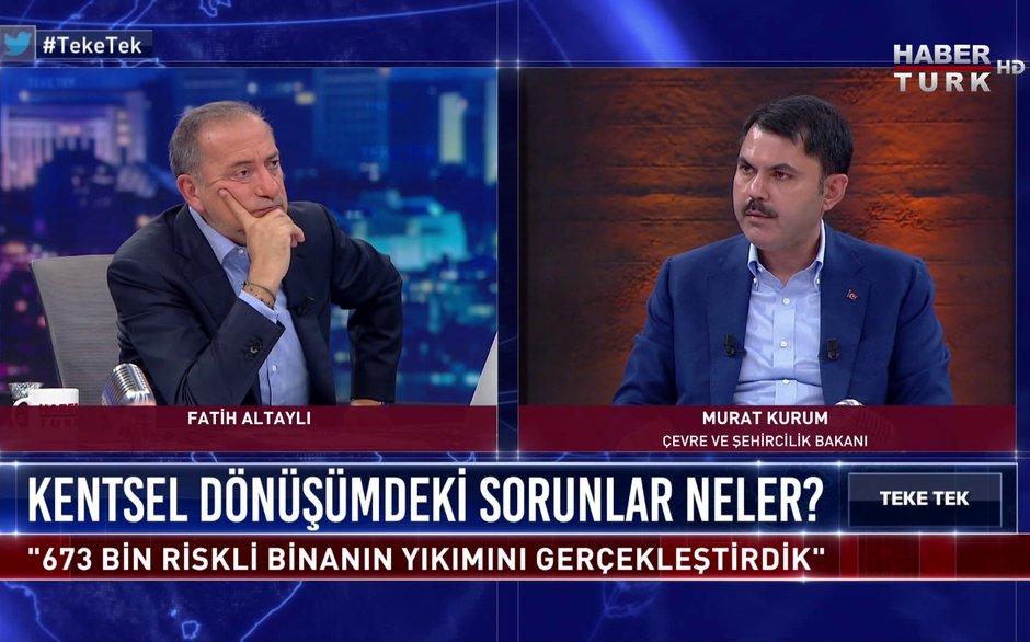 Teke Tek - 14 Kasım 2020 (Çevre ve Şehircilik Bakanı Murat Kurum Habertürk'te)