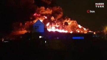 İngiltere'de yangın nedeniyle okullar kapandı, ulaşım aksadı