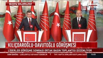 Kılıçdaroğlu ile Davutoğlu parlamenter sisteme dönüşü görüştü