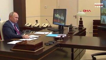 Putin telekonferans toplantısında öksürük krizine girdi